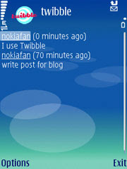 twibble mobile is a twitter client for Java enabled smartphones.