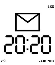 Large Time Screensaver for Nokia S60