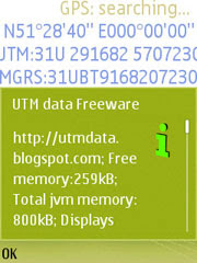 UTM data for Nokia S60