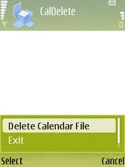 CalendarDelete for Nokia S60 3rd edition