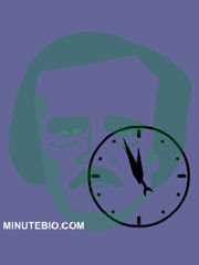 Edgar Allan Poe is a free Flash Lite wallpaper with clock for Nokia S60