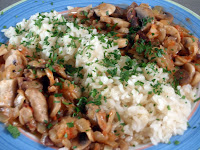arroz con champiñones