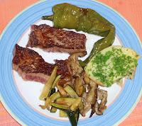 carne con setas y hortalizas