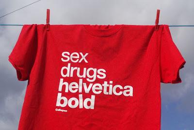 sex drugs helvetica bold  - Design Crush