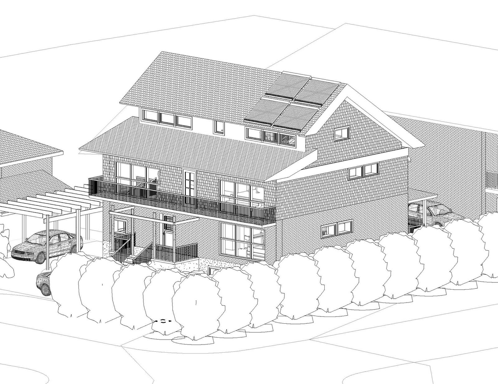 Passive House Toronto: Slit Roof with Clerestory Windows