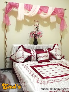 end's embroidery & handicraft: dekorasi kamar pengantin