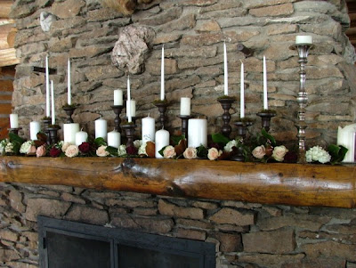 Fireplace Mantel Candle-scape - Love, Pomegranate House