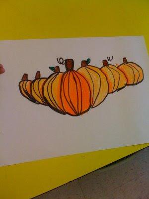 Oodles of Art: Pumpkin Patch Art, 1st Grade