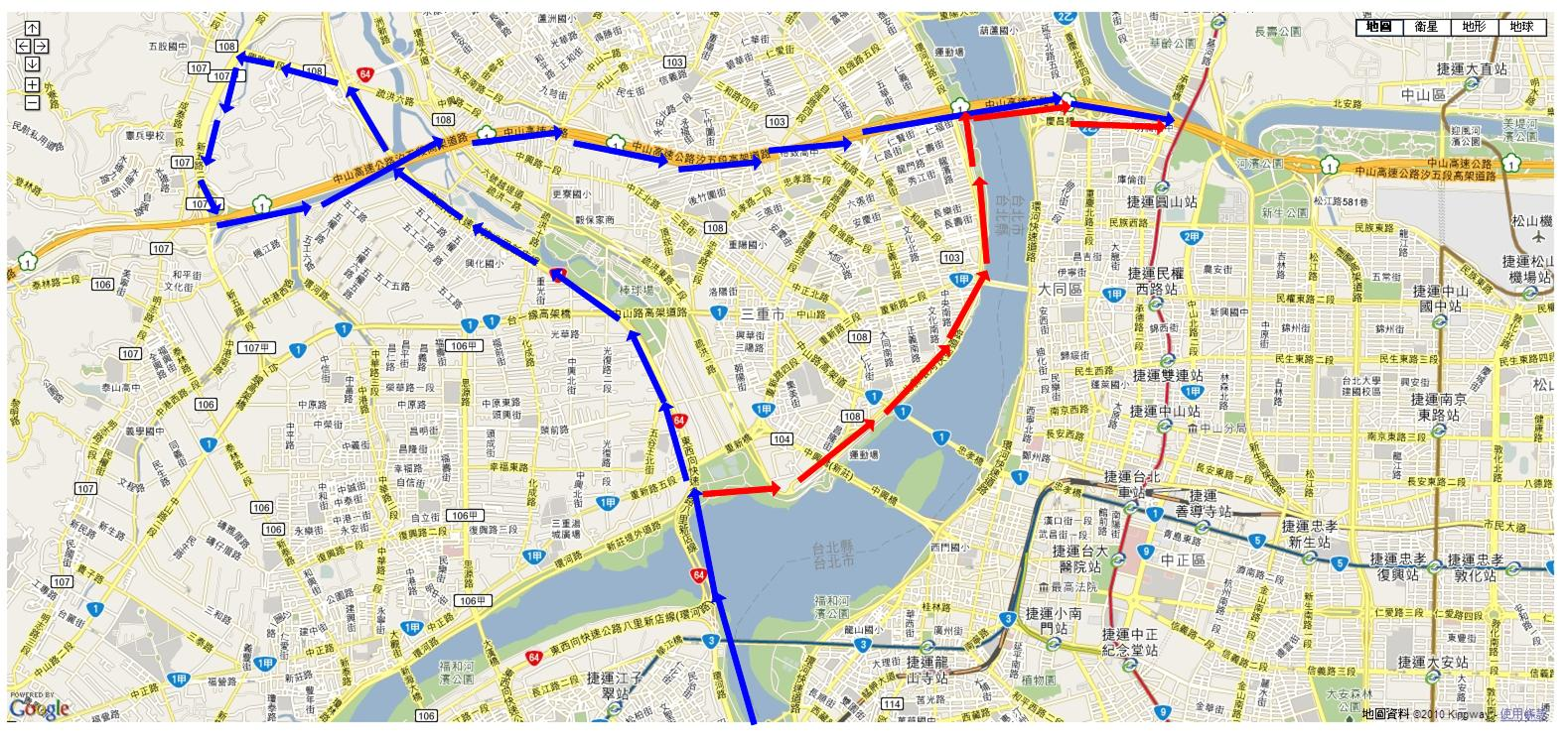 FEBON: 利用新北環河快速道路。板橋中和到內湖南港開車方法
