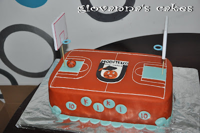 Giovanna S Cakes Basketball Court Cake