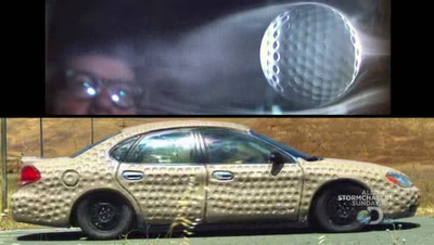 Their Dimpled Car Using Clay