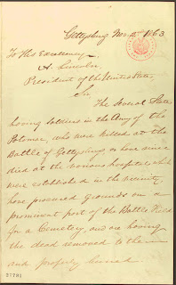 gettysburg letter to lincoln