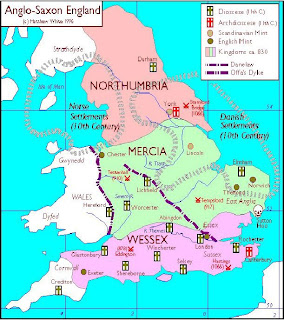 Map Of England Under Alfred The Great.A Little Bit Of Everything Only One English King Has Had