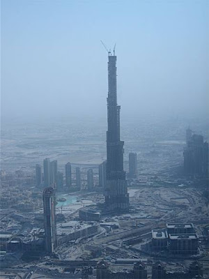 WORLD'S TALLEST BUILDING.........DUBAI Burj Dubai..........900 meters high. To be finally completed 2008