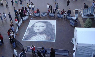 Mona Lisa from Coffee Cups