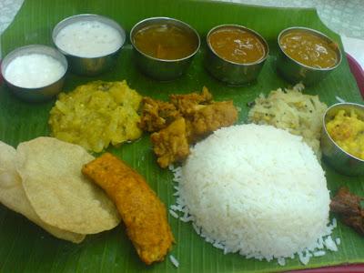 Ananda Bhavan Restaurant, south indian rice meal