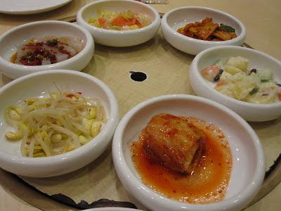 Crystal Jade Ginseng Chicken, banchan