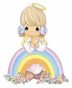 Angelito con arcoiris de precious moments