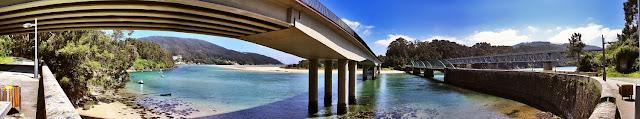 fto panorámica puentes sobre el rio sor en o barqueiro
