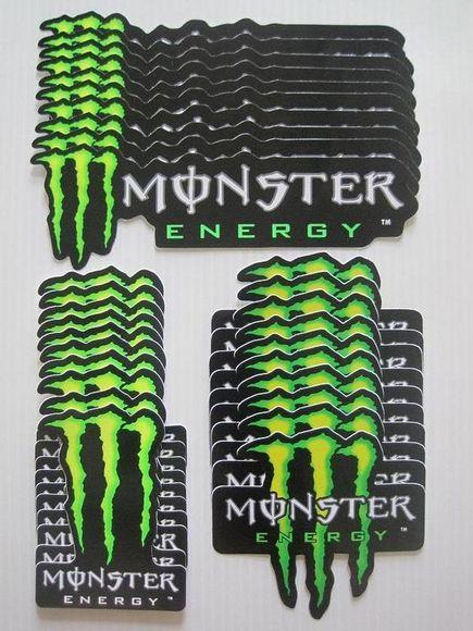 vintage rare monster energy stickers. Black Bedroom Furniture Sets. Home Design Ideas