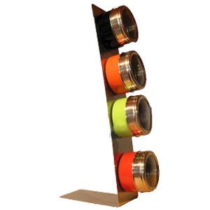 aoot vente flash de produits tendance 4 pots epices magn tiques avec support. Black Bedroom Furniture Sets. Home Design Ideas