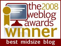 2008 Weblog Awards Winner
