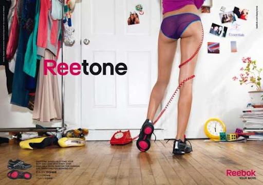 Buttocks became the main theme of advertising Reebok
