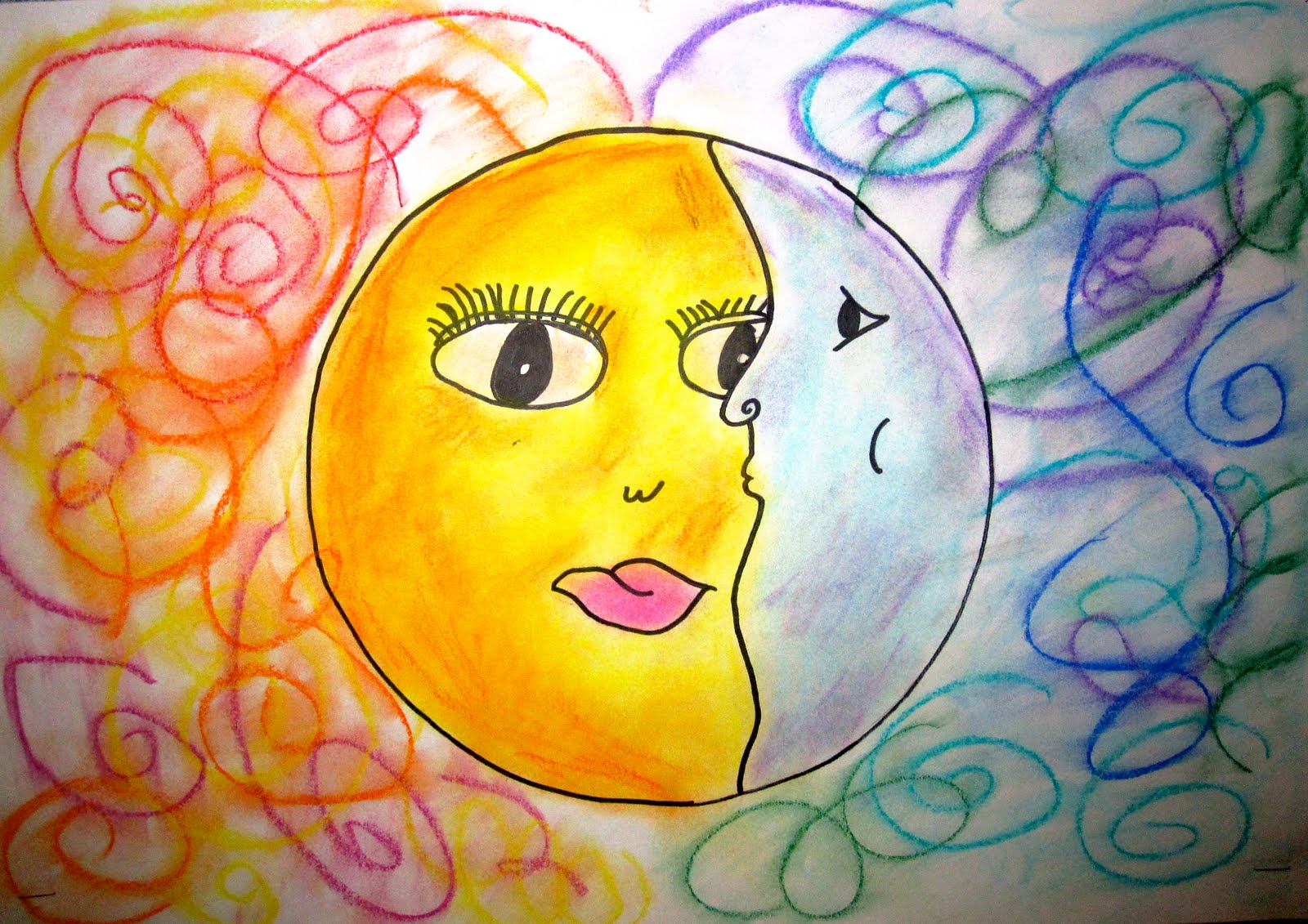 Art Explorium Warm Cool Sun And Moons