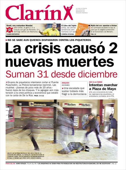 """Miséptimapasión: """"La crisis causó 2 nuevas muertes"""". Los Medios de ..."""