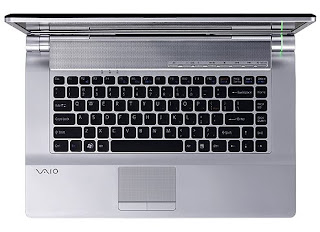 Sony Vaio FW 43G Top view