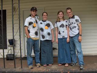 Two years ago with our friends for the Cow Appreciation Day
