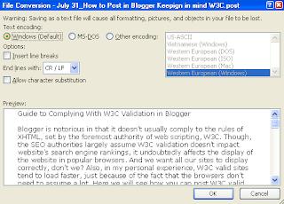 Choose Text Encoding