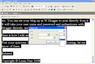 W.Blogger Editor (Desktop Blogging)