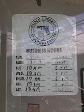 Horarios ventas de armas