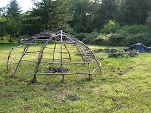 Cabaña de los indios Chinook