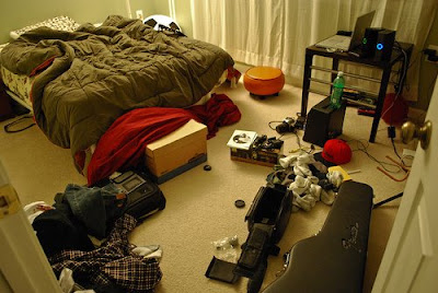 messy room needs spring clean