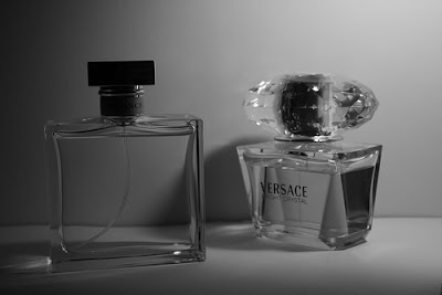 perfume bottles and tips