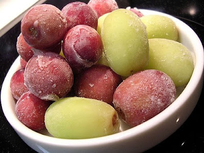 refreshing frozen grapes