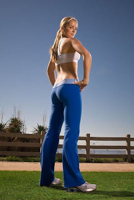 woman in the park in workout gear