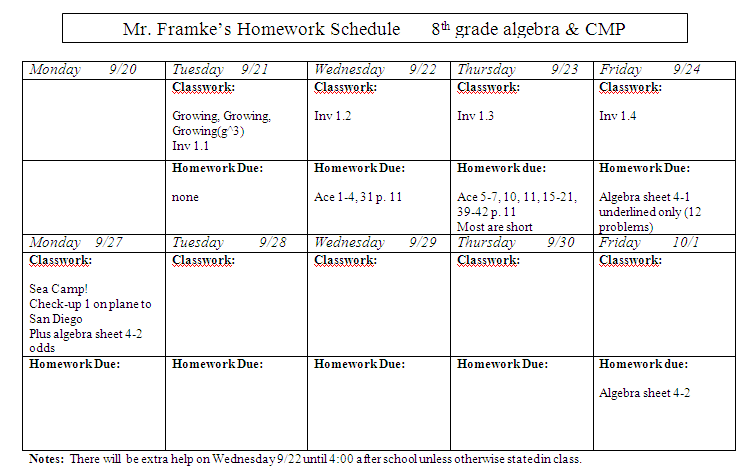 slavens th grade math homework assignment sheet and algebra sheet homework assignment sheet and algebra sheet