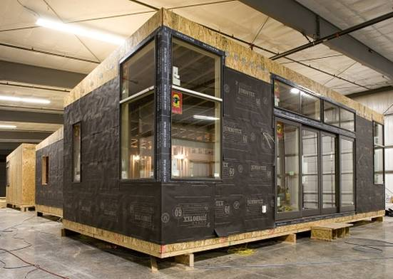 Módulos de madera para la construcción de cabañas ecológicas