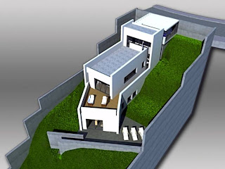Arquitectura de casas proyecto de casa en desniveles espa a - Terreno con casa ...