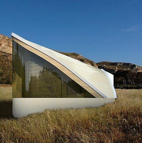 Imagen del renderizado de un proyecto de casa residencial vanguardista