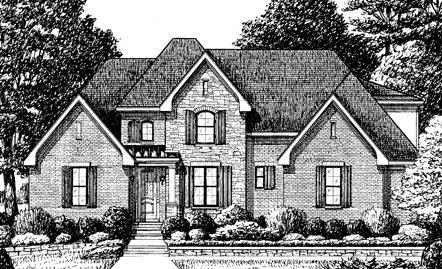 Dibujo de residencia estilo Country francés