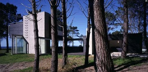 Casa cabaña moderna de playa en Nueva Zelanda