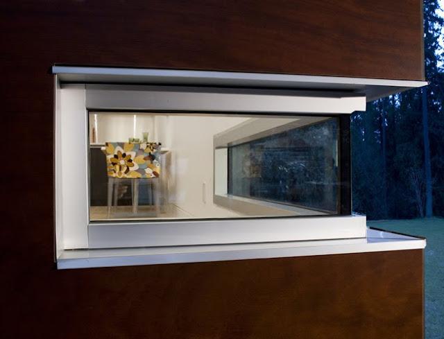 Detalle de arquitectura en un ángulo de la vivienda