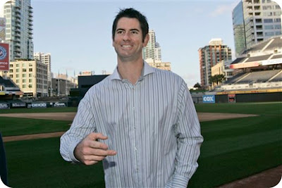 Mark Prior likes to wear stripey collared shirts
