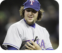 Gagne with the Rangers