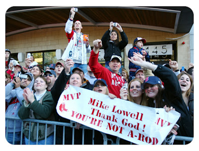 Sox fans thank baby jesus Lowell isn't A-Rod.