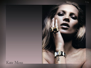 Kate Moss Romantic Wallpaper